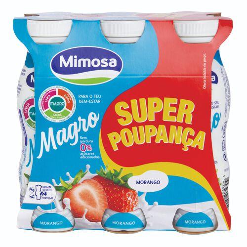 IOGURTE LÍQ. MAGRO MIMOSA MORANGO SUPER POUPANÇA 6X156ML image number 1