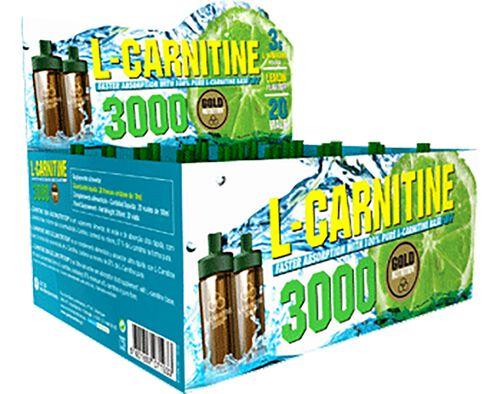 SUPLEMENTO GOLDNUTRITION L-CARTININE 3000 LIMÃO 20UN image number 0