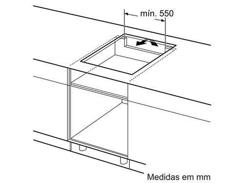 PLACA DE INDUÇÃO BOSCH PIE651BB1E 4 QUEIMADORES 59.2CM PRETO image number 4