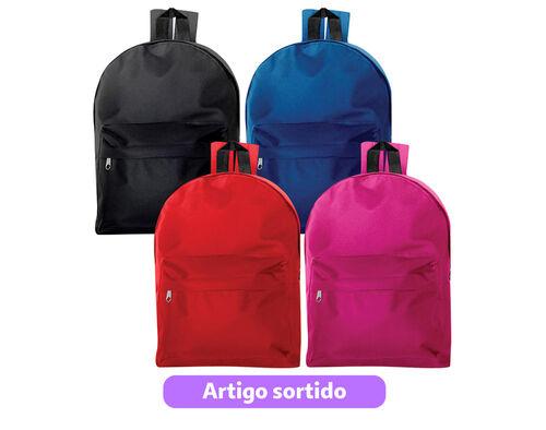 MOCHILA GRANDE BASIC BAGS C/2 FECHOS 30X40X14 image number 0