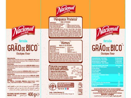 FARINHA NACIONAL GRÃO BICO 400 G image number 1