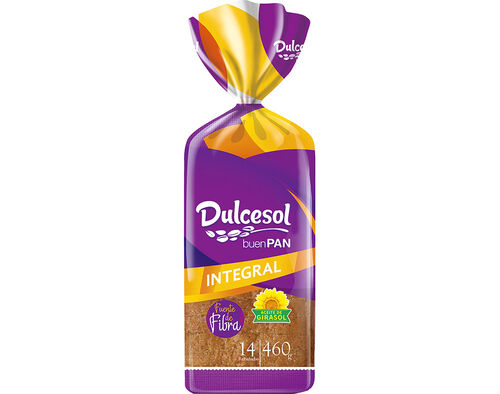 PAO DE FORMA DULCESOL INTEGRAL 460 G image number 0