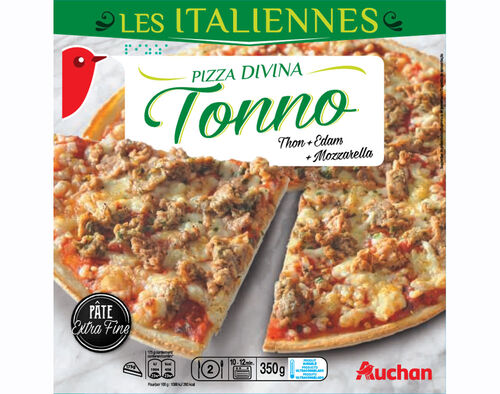 PIZZA AUCHAN EXTRA FINA DIVINA TONNO 350G image number 0
