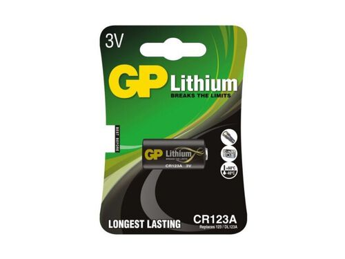 PILHA GP LITIO CR123A-B1 image number 0