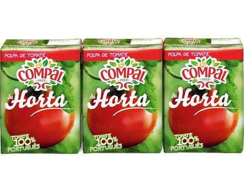 POLPA COMPAL DA HORTA TOMATE 3X210ML image number 0