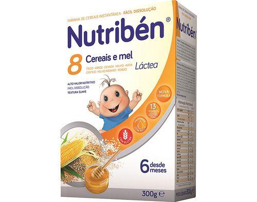 PAPA LACTEA NUTRIBEN 8 CEREAIS E MEL 300G image number 0