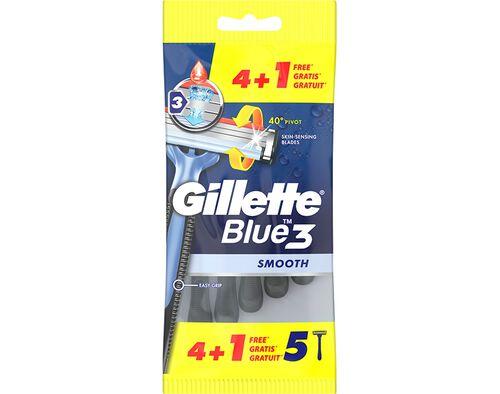 MÁQUINA DESCARTÁVEL GILLETTE BLUE3 4 +1 GRÁTIS image number 0