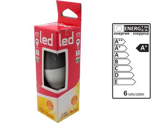 LAMPADA LED CHAMA AUCHAN LUZ AMAR. E14 40W 3000K image number 0