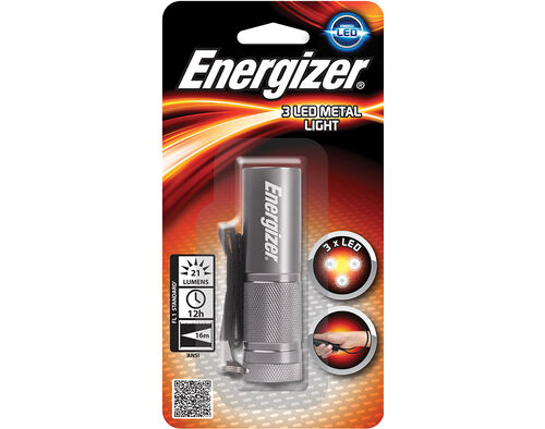 LANTERNA ENERGIZER COMPACT LED METAL 3AAA image number 0