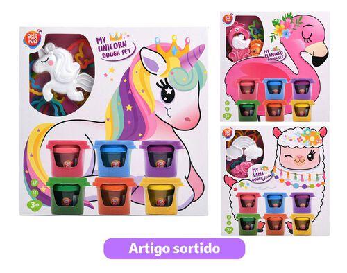SET DE PLASTICINAS ONE TWO FUN ANIMAIS MAGICOS image number 0