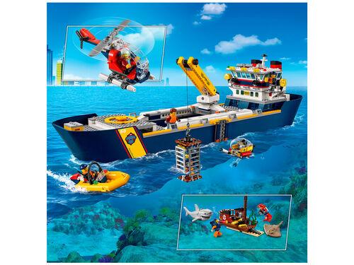 BARCO DE EXPLORAÇÃO LEGO CITY DO OCEANO