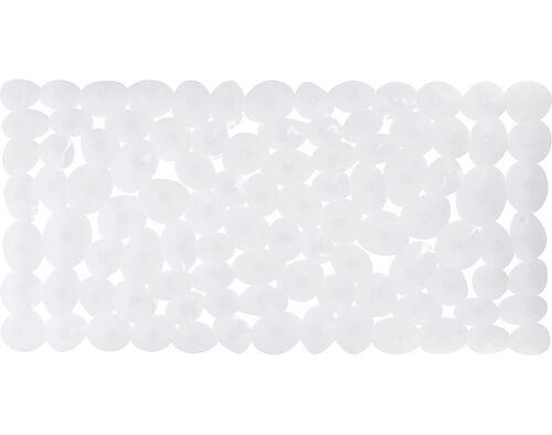 TAPETE ANTIDERRAPANTE ACTUEL PVC PEDRAS BRANCO 72X35CM image number 1
