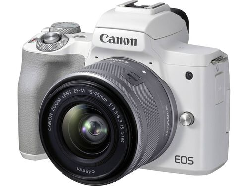 MÁQUINA FOTOGRÁFICA MIRRORLESS CANON EOS M50 MII+ EF-M 15-45MM F/3.5-6.3 IS STM BRANCA image number 1