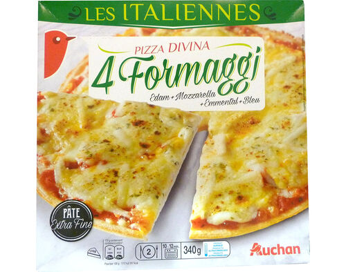 PIZZA AUCHAN EXTRA FINA DIVINA 4 FORMAGGI 340G image number 0