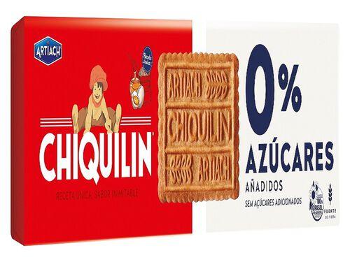 BOLACHA ARTIACH CHIQUILIN 0% AÇUCAR 175G image number 0