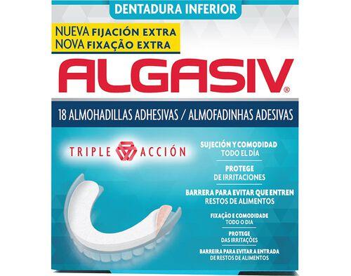 ALMOFADAS ADESIVAS ALGASIV PROTESE INFERIOR 18UN image number 0