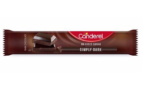 BARRAS CANDEREL CHOCOLATE NEGRO SEM AÇÚCAR 30G image number 0