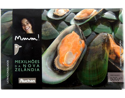 MEXILHAO CONCHA AUCHAN MMM! ULTRACONGELADO 500G image number 0