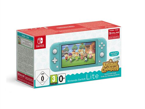 CONSOLA NINTENDO SWITCH ITE TURQ + AN. CROSS. NH + 3M image number 0