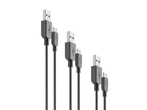 PACK 3 CABOS CELLULARLINE MICRO USB 15/120/200CM image number 1