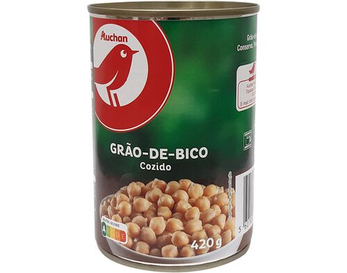 GRÃO AUCHAN COZIDO 420 G image number 0