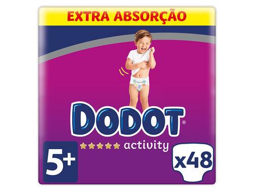 FRALDAS DODOT ACTIVITY EXTRA TAMANHO 5 DE 12 A 17KG 48UN image number 0