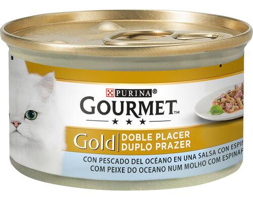 COMIDA HÚMIDA GATO GOURMET GOLD PEIXE/ESPIN 85GR image number 0