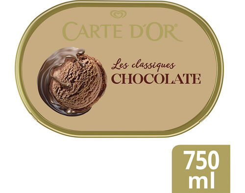 GELADO CARTE D'OR LES CLASSIQUES CHOCOLATE 750ML image number 0