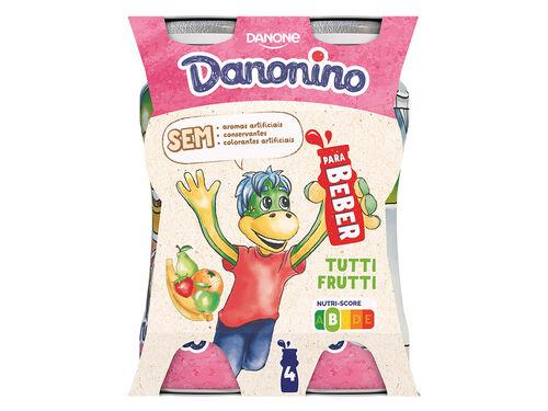 IOGURTE DANONINO P/BEBER TUTTI FRUTTI 4X100 G image number 0