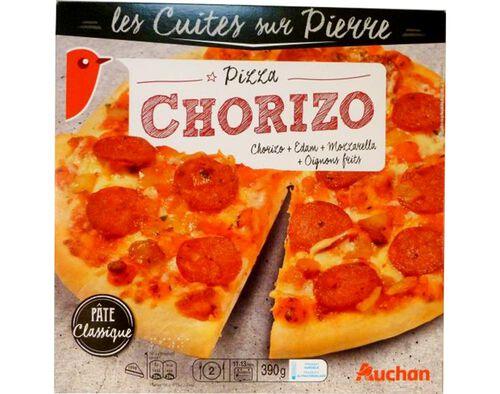 PIZZA AUCHAN COZEDURA PEDRA CHORIZO 390G image number 0