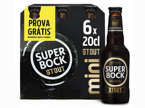 CERVEJA PRETA SUPER BOCK STOUT MINI 6X0.20 L image number 0