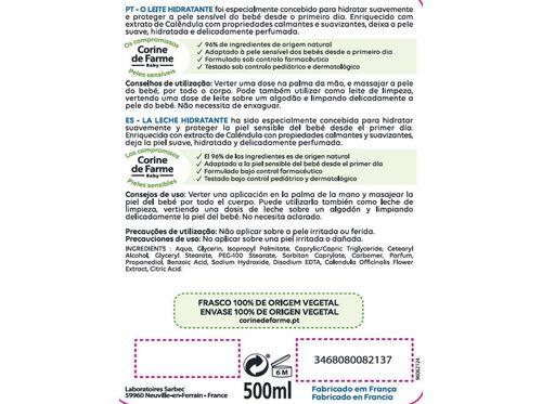 LEITE HIDRAT. CORINE DE FARME PELES SENSIVEIS 500 ML image number 1