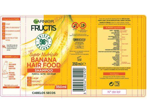 CHAMPÔ FRUCTIS HAIR FOOD BANANA 350ML image number 1