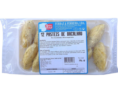 PASTEIS GELO TOTAL BACALHAU SD 12 UN 300 G image number 0