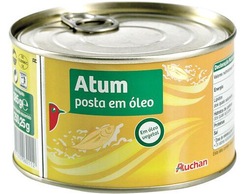 ATUM AUCHAN EM ÓLEO 385G image number 0
