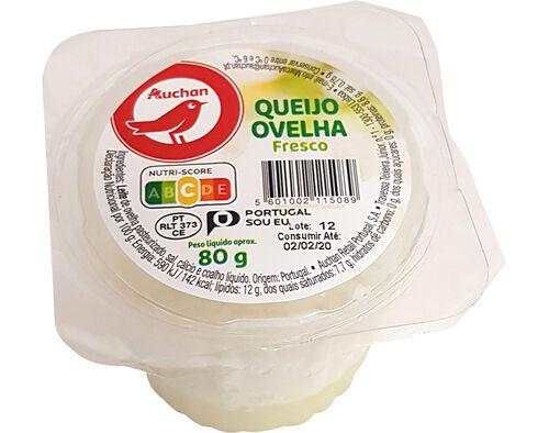 QUEIJO AUCHAN FRESCO DE OVELHA 80G image number 0