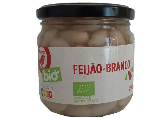 FEIJÃO BRANCO AUCHAN BIO COZIDO 290 G image number 0