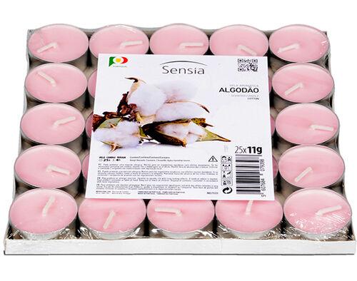 TEALIGHT SENSIA ALGODÃO ROSA PACK 25 UNIDADES image number 0