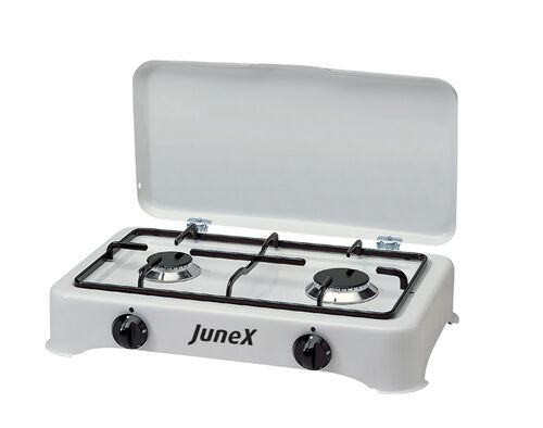 FOGAREIRO GAS JUNEX 5327 BRANCO 2 QUEIMADORES image number 0
