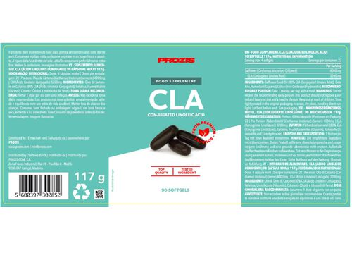 SUPLEMENTO PROZIS CLA-ÁCIDO LINOLEICO 90 CAPS image number 1
