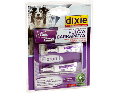 PIPETAS INSECT FIPRONIL DIXIE SPOT ON CÃES 20-40KG 2X2.68ML image number 0