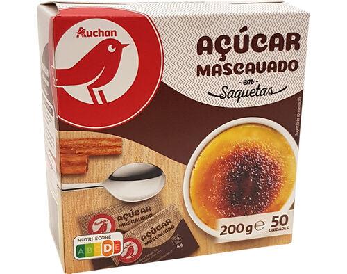 AÇUCAR AUCHAN MASCAVADO EM SAQUETAS 50UN 200G image number 0