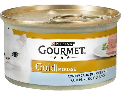 COMIDA HÚMIDA GATO GOURMET GOLD MOUSSE PX OCEANO 85G image number 0