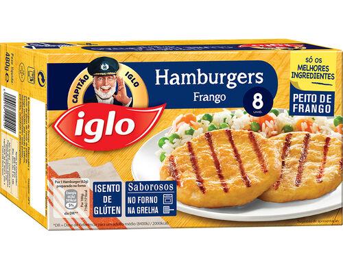 HAMBURGERS IGLO FRANGO S/ GLÚTEN 8 UN. 480G image number 0