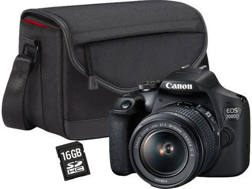 MÁQUINA FOTOGRÁFICA REFLEX CANON EOS 2000D + EF-S 18-55MM F/3.5-5.6 III DC image number 0