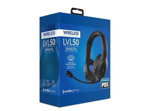 AURICULAR GAMING PDP LVL50 WIRELESS PS4/PS5 PRETO image number 0