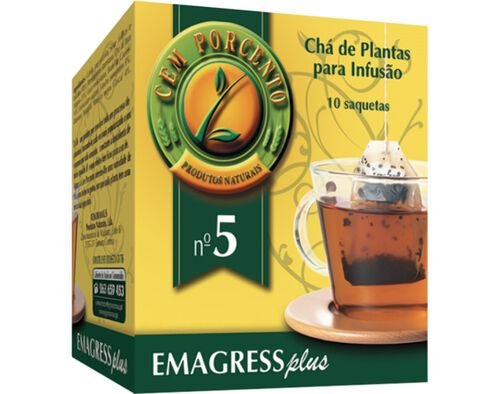 CHÁ CEM PORCENTO Nº5 EMAGRESS PLUS 10 SAQ image number 0