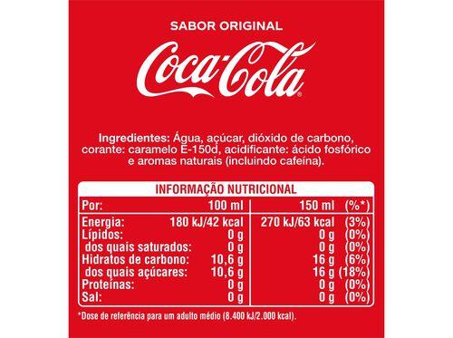REFRIGERANTE COCA COLA COM GÁS SABOR ORIGINAL LATA 6X0.33L image number 1