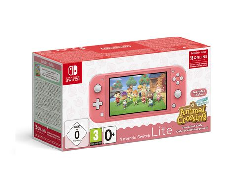CONSOLA NINTENDO SWITCH LITE CORAL + AN. CROSS. NH + 3M image number 0