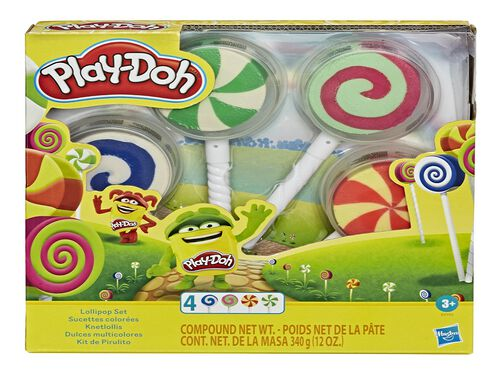 DOCES MULTICORES PLAY-DOH PACK 4 UNIDADES image number 0